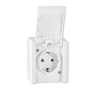 3145350 - Utičnica dvopolna OG PVC polikarbonat IP44 Power Line art.2411.00, Aling Conel