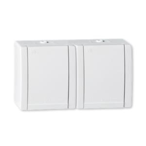 3145370 - Utičnica dupla dvopolna OG PVC polikarbonat IP44 Power Line art.2412.00, Aling Conel